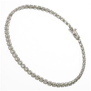 1ctダイヤモンドテニスブレスレット シルバーカラー:BKワールド
