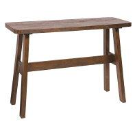 カウンターテーブル/ハイテーブル【長方形幅120cm】木製高さ85cmブラッシング加工『ベルク』ダークブラウン