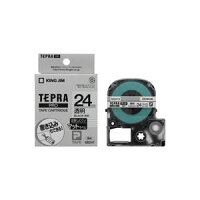 (業務用30セット)キングジムテプラPROテープマット透明/黒文字SB24T×30セット