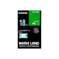 (業務用30セット)カシオCASIOラベルテープXR-18AGN緑に白文字18mm×30セット