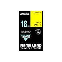(業務用30セット)カシオCASIO強粘着テープXR-18GYW黄に黒文字18mm×30セット