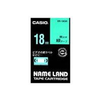 (業務用30セット)カシオCASIOラベルテープXR-18GN緑に黒文字18mm×30セット