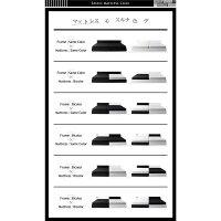 収納ベッドワイドキング280(ダブル×2)【BAXTER】【ポケットコイルマットレス:レギュラー付き】フレームカラー:ブラックマットレスカラー:アイボリー×ブラック棚・コンセント・収納付き大型モダンデザインベッド【BAXTER】バクスター