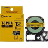 (業務用50セット)キングジムテプラPROテープマットSB12Y黄に黒文字12mm×50セット