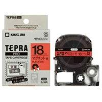 (業務用20セット)キングジムテプラPROテープマグネット赤に黒文字SJ18R×20セット