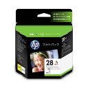 (まとめ) HP28/L判 フォトパック 3色カラー+アドバンスフォト用紙L判25枚 CR714AJ 1セット 【×3セット】