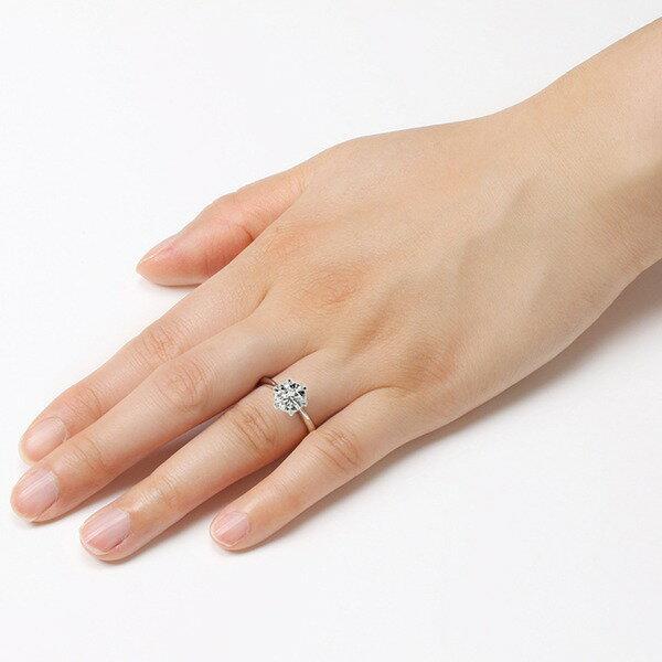 ダイヤモンド リング 一粒 1カラット 16号 プラチナPt900 Hカラー SI2クラス Excellent エクセレント ダイヤリング 指輪 大粒 1ct 鑑定書付き