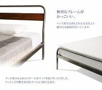 すのこベッドセミダブル【ボンネルコイルマットレス:レギュラー付き】フレームカラー:シルバーアッシュマットレスカラー:ブラックデザインスチールすのこベッドDiperessディペレス
