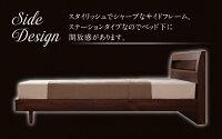 すのこベッドダブル【Mowe】【マルチラススーパースプリングマットレス付き】ナチュラル棚・コンセント付デザインすのこベッド【Mowe】メーヴェ【】