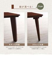 【単品】こたつテーブル長方形(120×80cm)【Sniff】ブラウン角脚自分だけのこたつ&テーブルスタイル!天然木カスタムデザインこたつテーブル【Sniff】スニフ