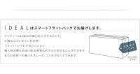 フロアベッドダブル【IDEAL】【ポケット:レギュラー付き】カラー:ホワイトカラー:アイボリー棚・コンセント付きフロアベッド【IDEAL】アイディール