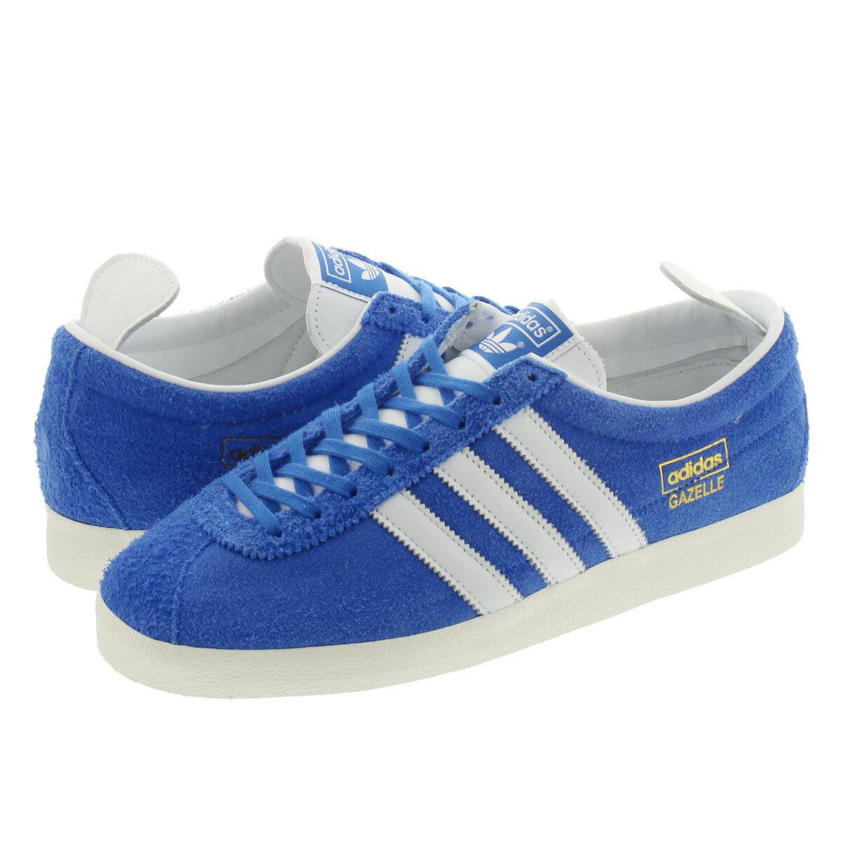メンズ靴, スニーカー adidas GAZELLE VINTAGE BLUEFTWR WHITEGOLD METALLIC fu9656
