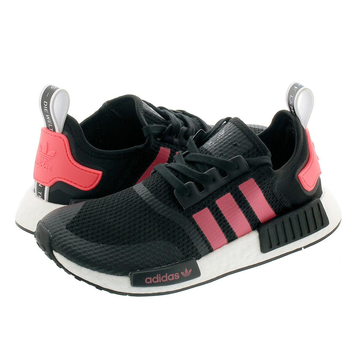 メンズ靴, スニーカー adidas NMDR1 R1 CORE BLACKSIGNAL PINKFTWR WHITE fv9153