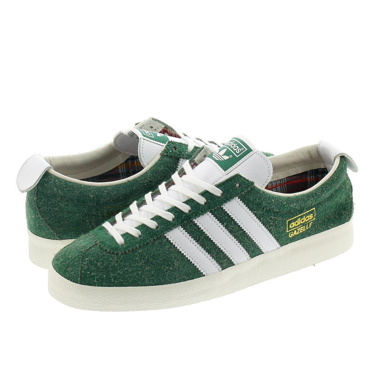 メンズ靴, スニーカー adidas GAZELLE VINTAGE COLLEGE GREENFTWR WHITEOFF WHITE fv9678