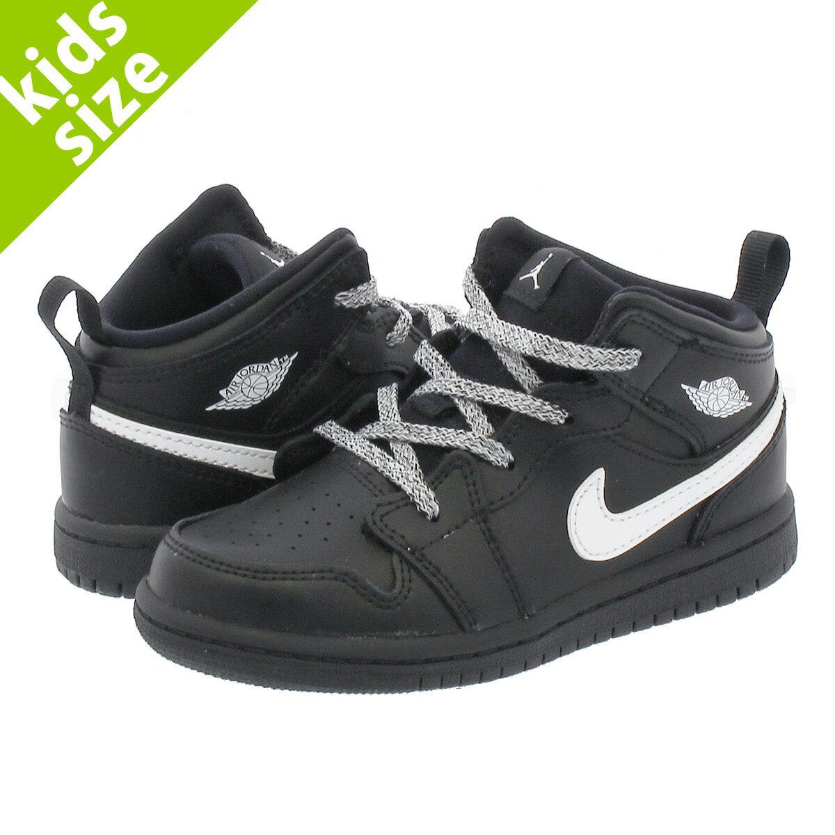 靴, スニーカー 8-16cm NIKE AIR JORDAN 1 MID BT 1 TD BLACKWHITE