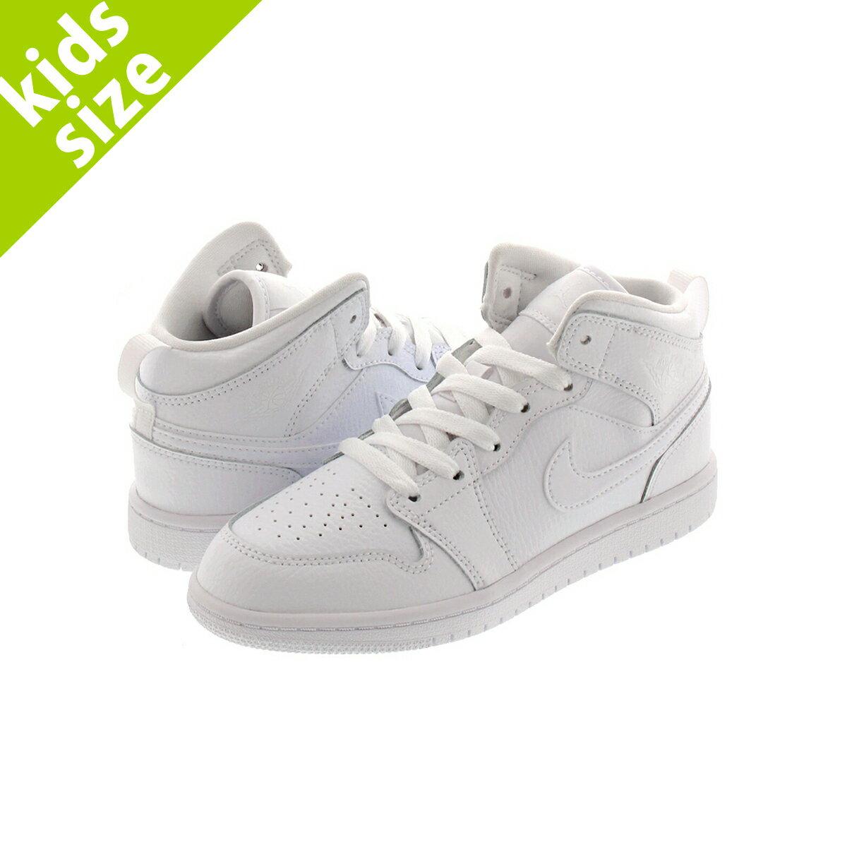靴, スニーカー 16.022.0cm NIKE AIR JORDAN 1 MID PS 1 PS WHITEWHITE 640734-126