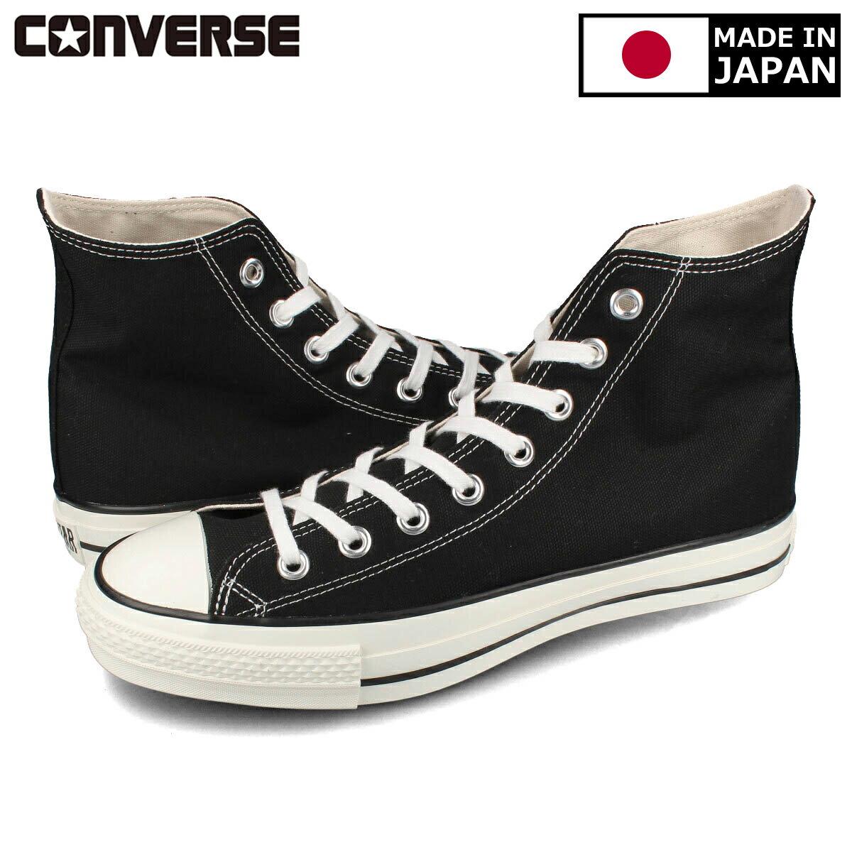 メンズ靴, スニーカー CONVERSE CANVAS ALL STAR J HI MADE IN JAPAN J HI BLACK