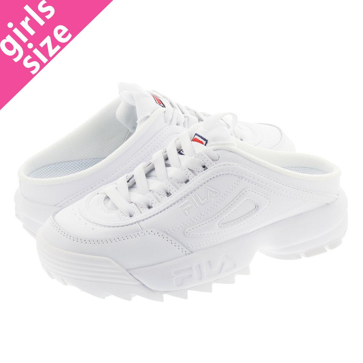 レディース靴, スニーカー  FILA DISRUPTOR II MULE SL WMNS 2 SL WHITENAVYRED f0503-0125