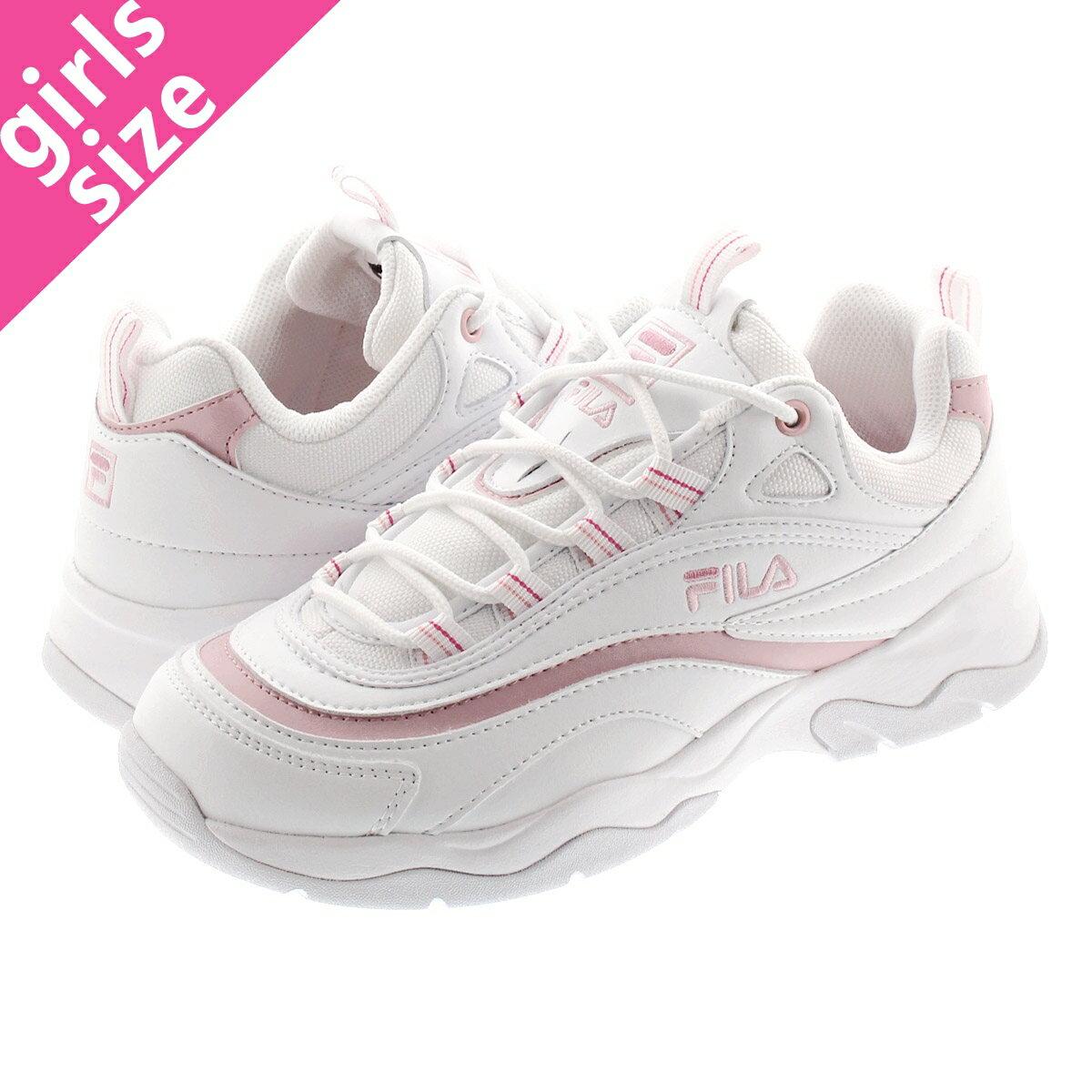 レディース靴, スニーカー  FILA FILARAY WHITEPINK f5054-3106