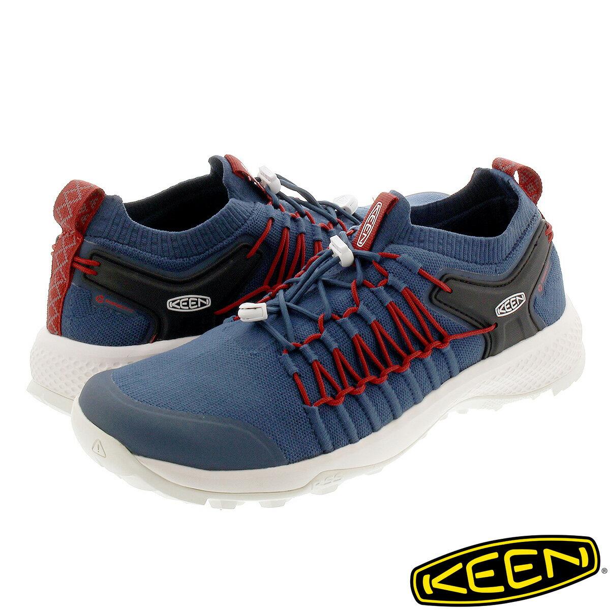 メンズ靴, スニーカー KEEN EXPLORE UNEEK MAJOLICA BLUERIO RED 1022041