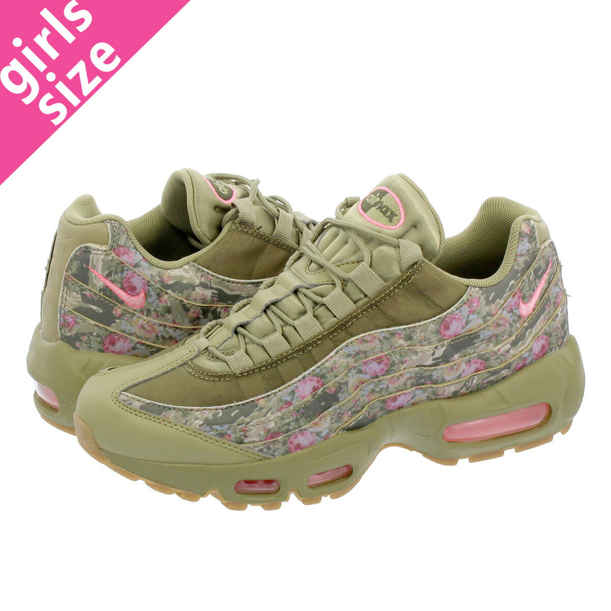 レディース靴, スニーカー NIKE WMNS AIR MAX 95 95 NEUTRAL OLIVEARCTIC PUNCH aq6385-200