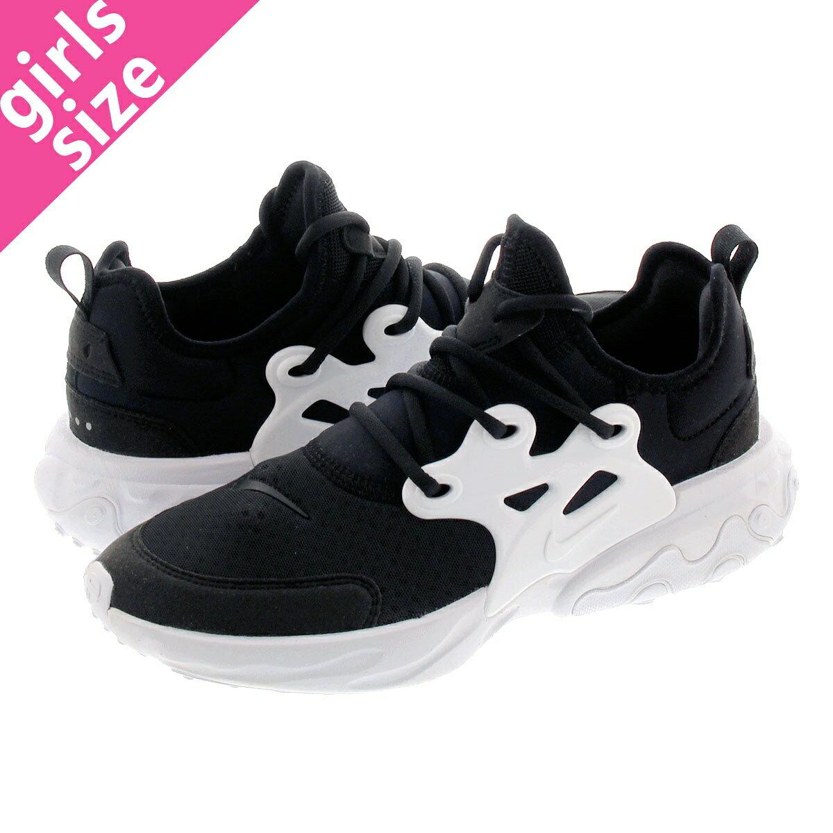 レディース靴, スニーカー NIKE REACT PRESTO GS GS BLACKWHITE bq4002-001