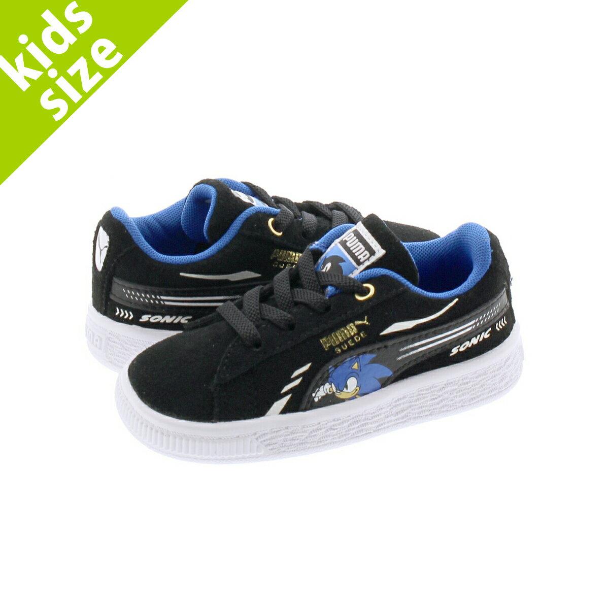 靴, スニーカー  12.016.0cmPUMA x SEGA SUEDE SONIC AC INFANT x AC BLACK 371999-01
