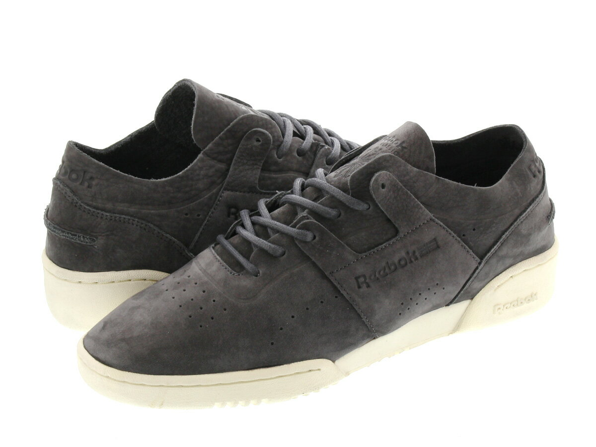 メンズ靴, スニーカー  Reebok WORKOUT LOW CLEAN DU DU SOFT BLACKCREAM WHITE