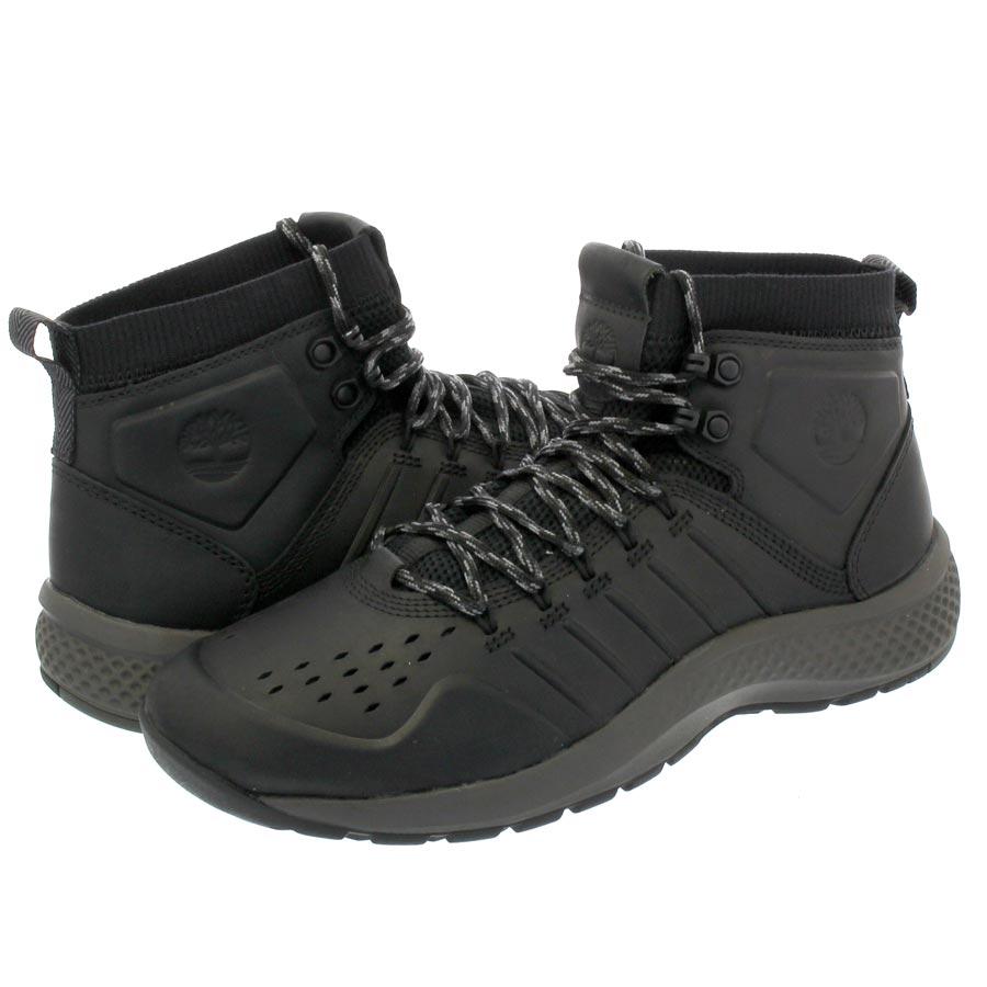 メンズ靴, スニーカー  TIMBERLAND FLYROAM TRAIL MID LEATHER BLACKOUT a1nz9
