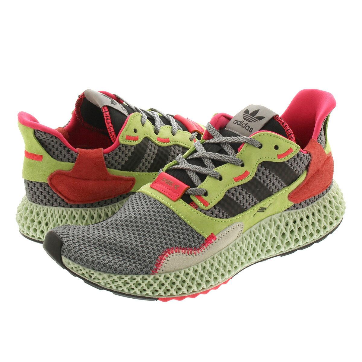 メンズ靴, スニーカー adidas ZX 4000 4D ZX 4000 4D GREY THREECORE BLACKHI RES YELLOW bd7927