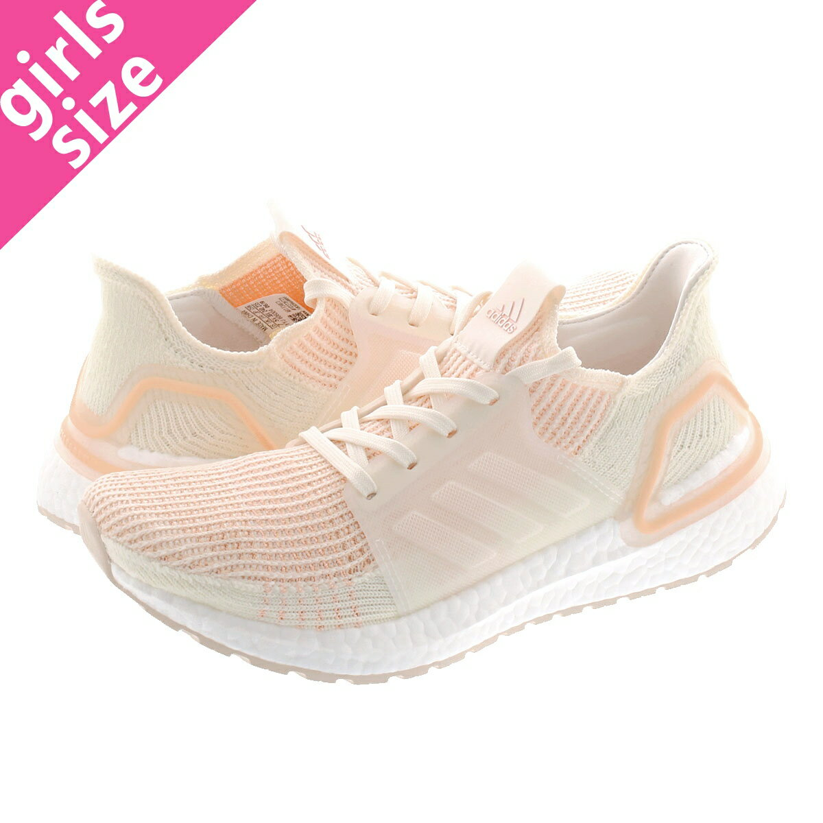 レディース靴, スニーカー adidas ULTRA BOOST 19 W 19 OFF WHITEOFF WHITEGLOW ORANGE f34073