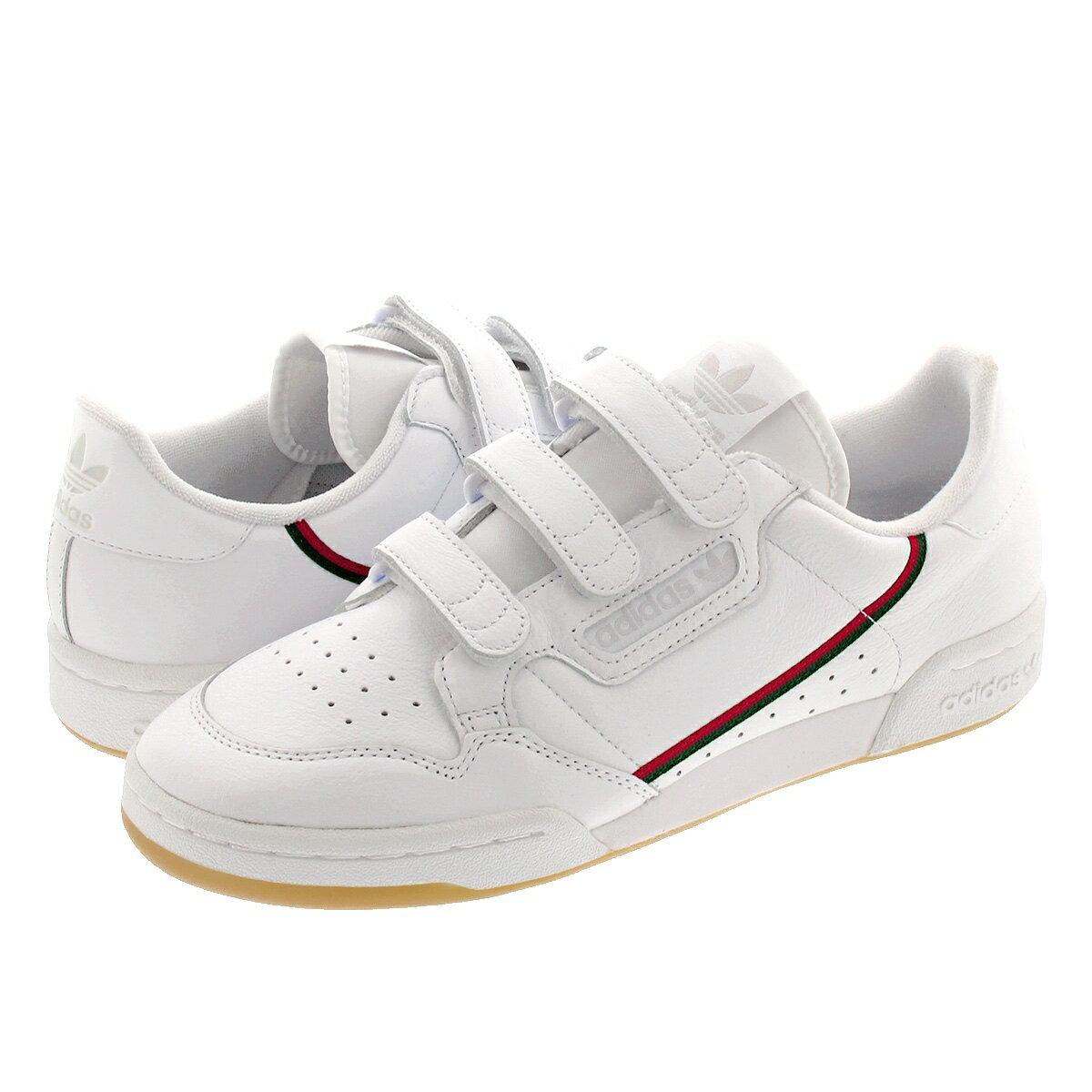 adidas CONTINENTAL 80 STRAP Adidas Continental 80 strap RUNNING  WHITE/COLLEGIATE GREEN/SCARLET ee5359