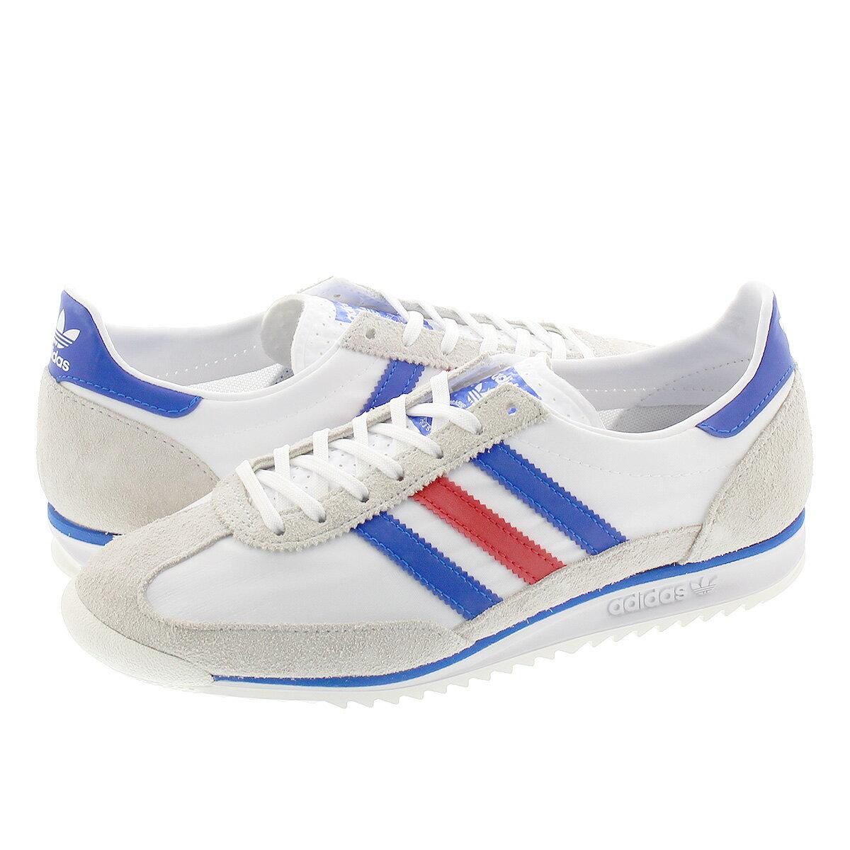 メンズ靴, スニーカー adidas SL 72 72 FTWR WHITEGLORY BLUEGLORY RED fv4430