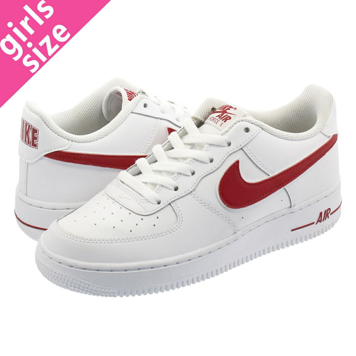 nike AIR FORCE 1 3 (GS) WHITEGYM RED bei