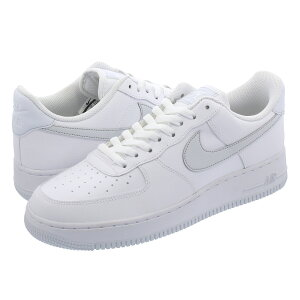 NIKE AIR FORCE 1 '07 【REFLECTIVE PATCH】 ナイキ エア フォース 1 '07 WHITE/PURE PLATINUM/METALLIC SILVER cd9066-100