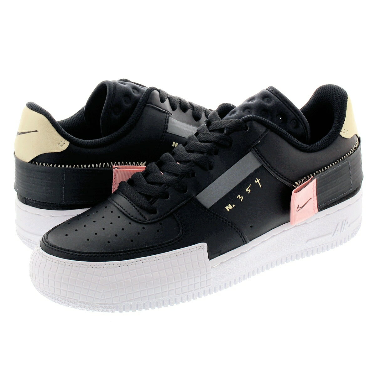 NIKE AIR FORCE 1 TYPE Nike air force one type BLACKANTHRACITEZINNIAPINK TINT ci0054 001