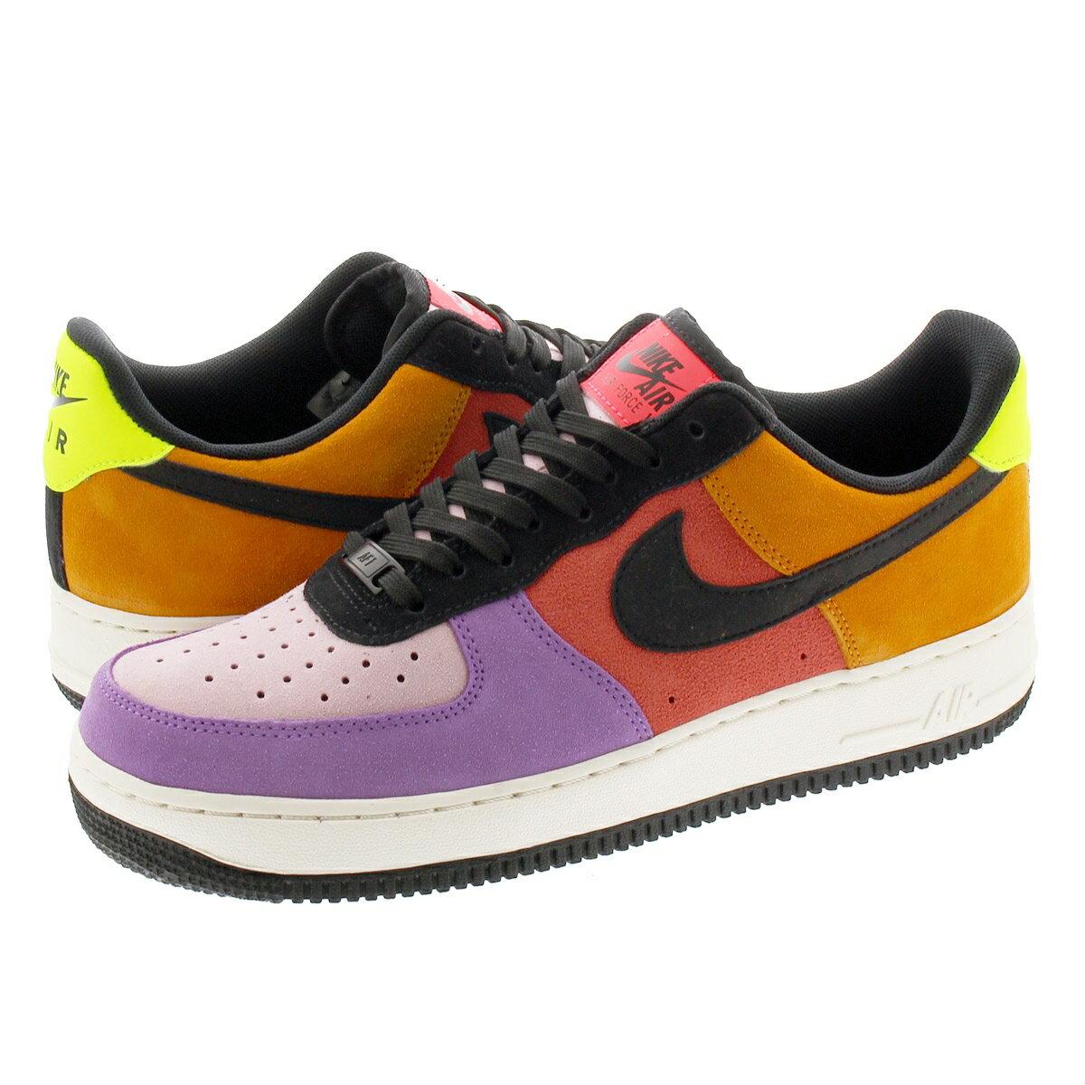 メンズ靴, スニーカー NIKE AIR FORCE 1 07 LV8 1 07 LV8 PRISM PINKBLACKBRIGHT VIOLET cu1929-605