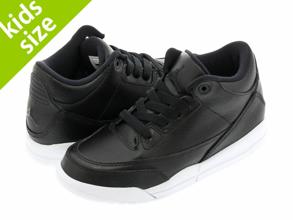 靴, スニーカー  16-22cm NIKE AIR JORDAN 3 RETRO PS 3 PS BLACKBLACKWHITE 429487-020