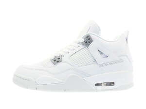【大人気の女の子サイズ♪】NIKEAIRJORDAN4RETROBG【PUREMONEY】【PURE$】ナイキエアジョーダン4レトロBGWHITE/METALLICSILVER/PUREPLATINUM