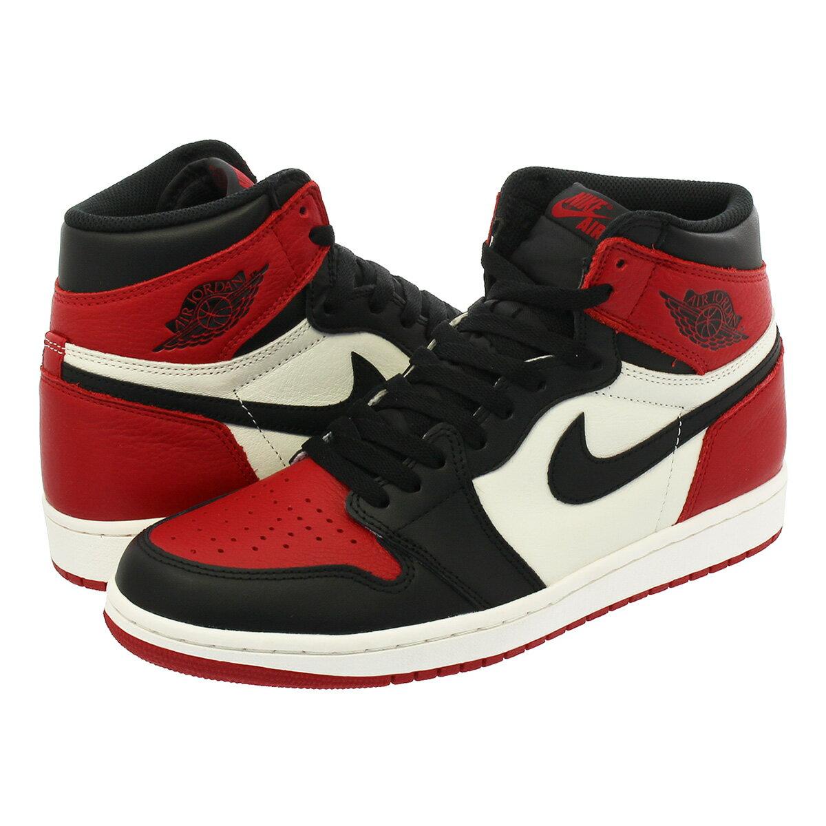 メンズ靴, スニーカー NIKE AIR JORDAN 1 RETRO HIGH OG BRED TOE 1 OG GYM REDBLACKSUMMIT WHITE 555088-610