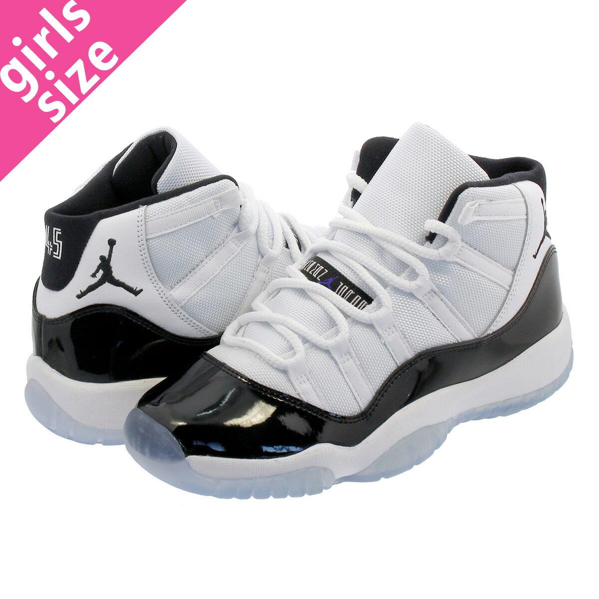レディース靴, スニーカー NIKE AIR JORDAN 11 RETRO BG CONCORD 11 BG WHITECONCORDBLACK 378038-100