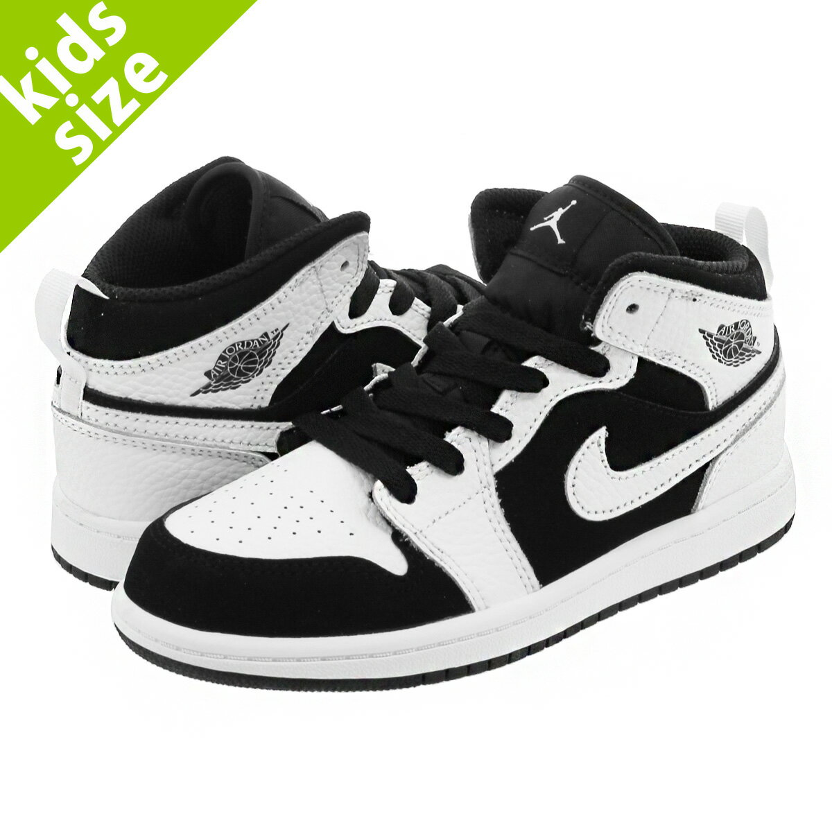 靴, スニーカー 16-22cm NIKE AIR JORDAN 1 MID PS 1 PS WHITEBLACK 640734-113