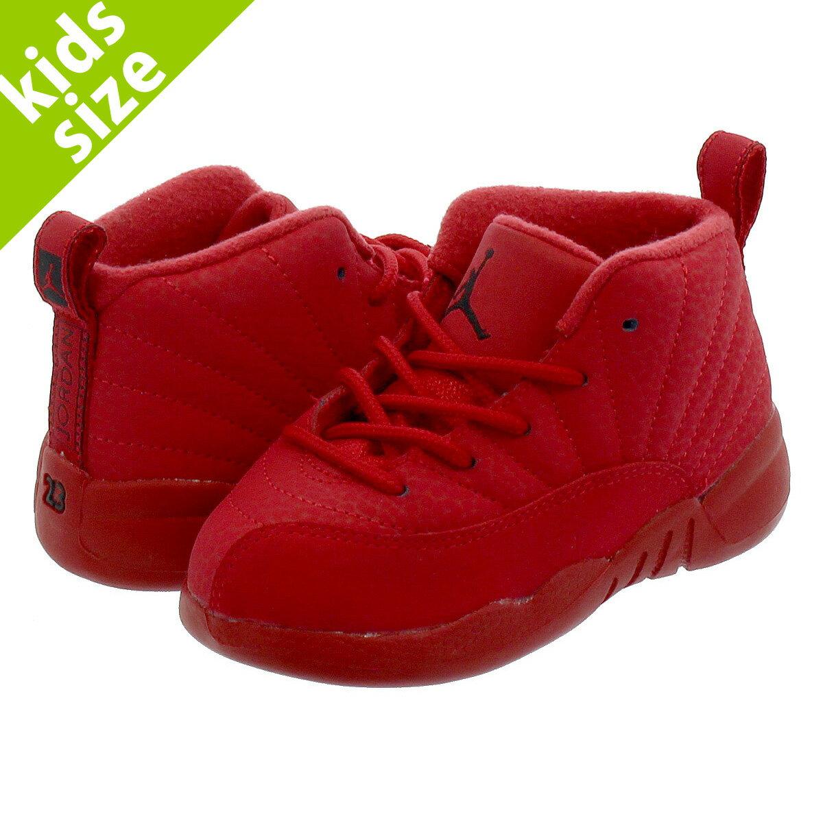 靴, スニーカー 8cm-16cm NIKE AIR JORDAN 12 RETRO TD 12 TD GYM REDBLACKBLACK 850000-601