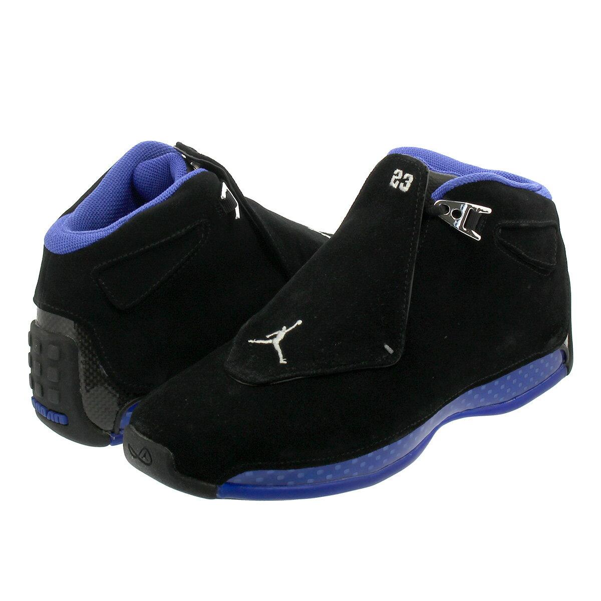 NIKE AIR JORDAN 18 RETRO Nike Air Jordan 18 nostalgic BLACKMETALLIC SILVERSPORT ROYAL aa2494 007