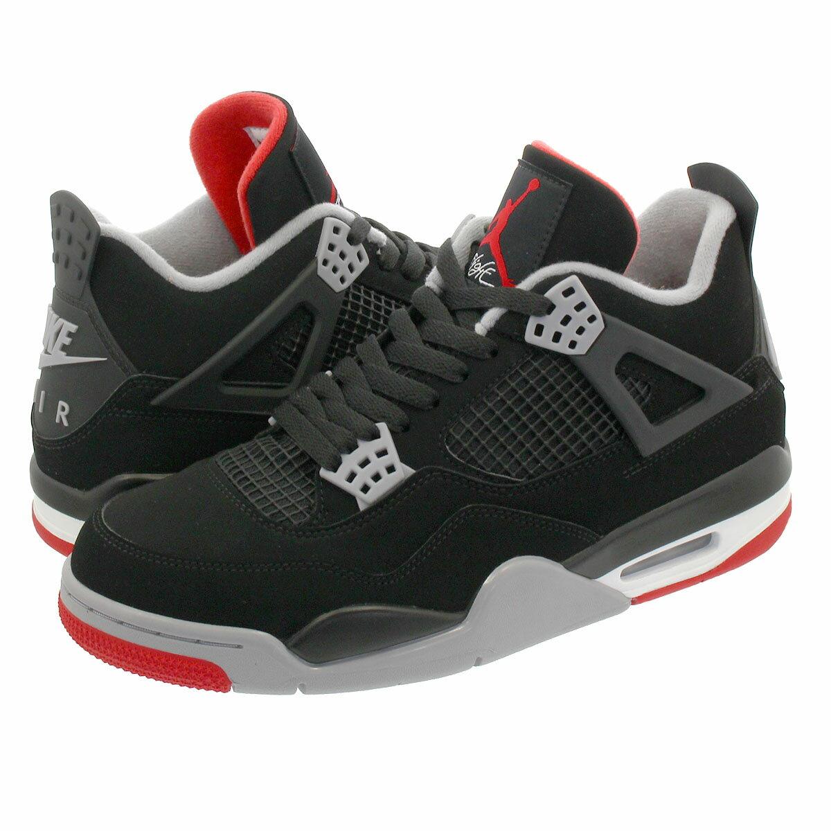 メンズ靴, スニーカー NIKE AIR JORDAN 4 RETRO BRED 4 BLACKCEMENT GREYSUMMIT WHITEFIRE RED 308497-060