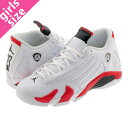 NIKE AIR JORDAN 14 RETRO BG ナイキ エア ジョーダン 14 レトロ BG WHITE/BLACK/VARSITY RED/MTLC SILVER 487524-100