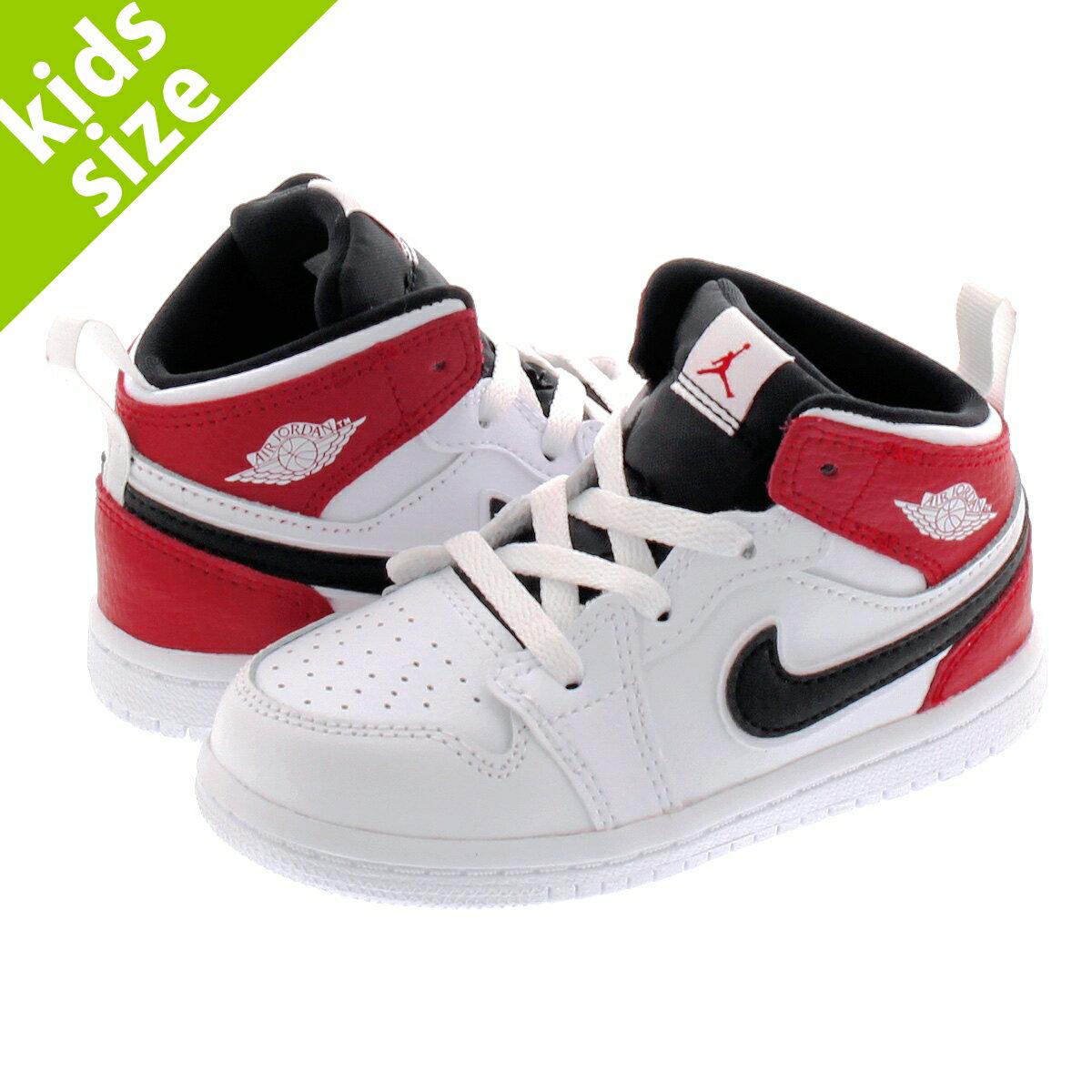 靴, スニーカー 8.016.0cm NIKE AIR JORDAN 1 MID BT 1 BT WHITEBLACKGYM RED 640735-116