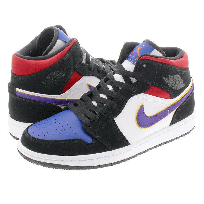 half off 6bd46 ddfdc NIKE AIR JORDAN 1 MID SE Nike Air Jordan 1 mid SE BLACK/FIELD  PURPLE/WHITE/GYM RED 852,542-005