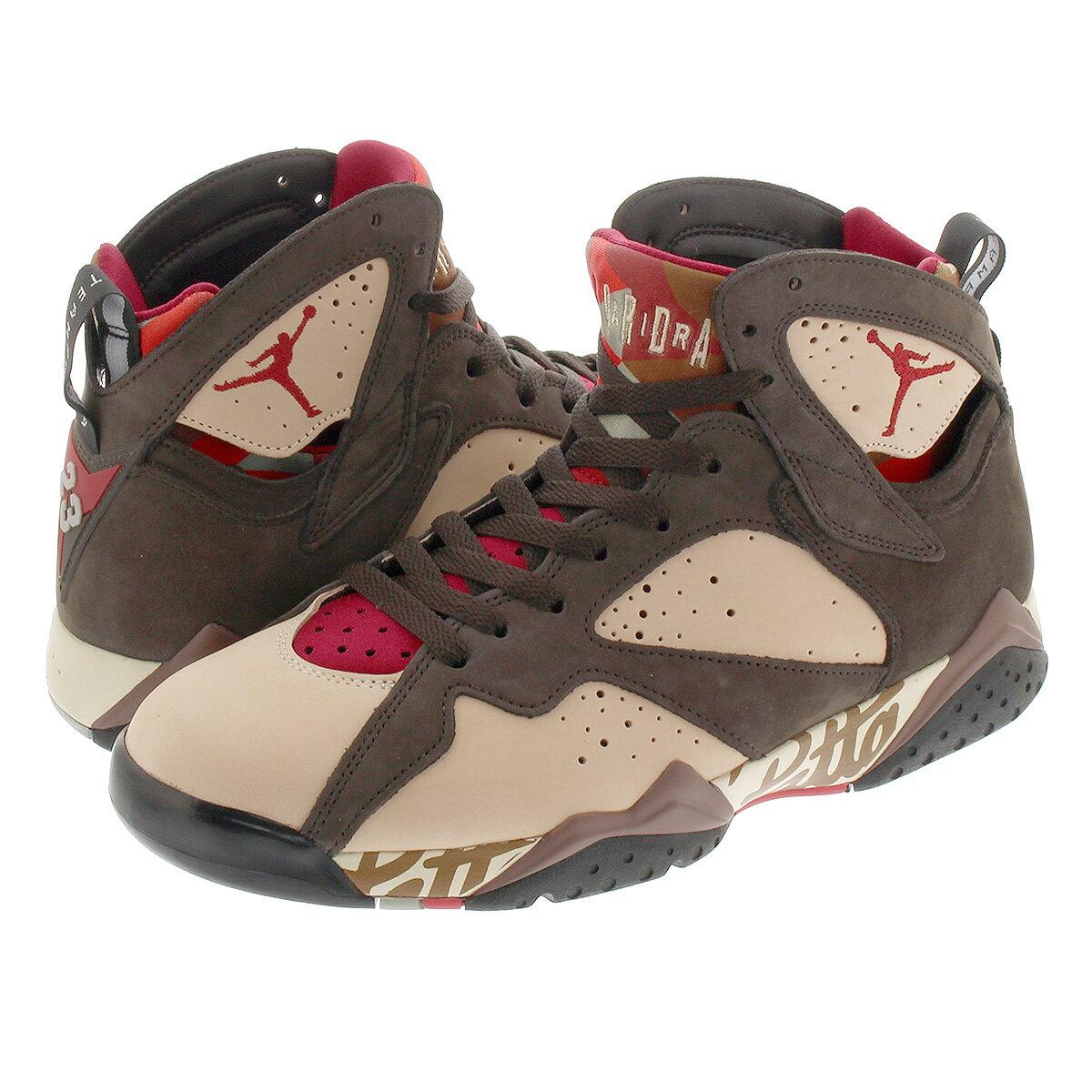 メンズ靴, スニーカー NIKE AIR JORDAN 7 RETRO PATTA 7 SHIMMERTOUGH REDVELVET BROWNMAHOGANY PINK at3375-200
