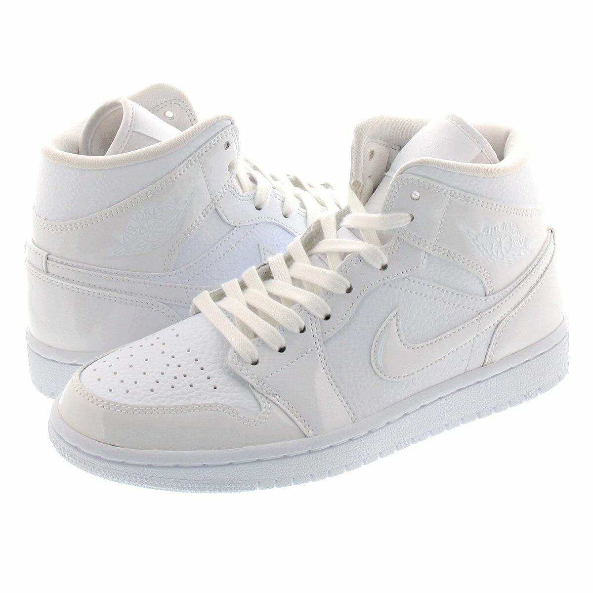 メンズ靴, スニーカー NIKE WMNS AIR JORDAN 1 MID 1 WHITEWHITE bq6472-100